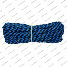 Treccia luxury nero - azzurra, 6 mm - 250 mt