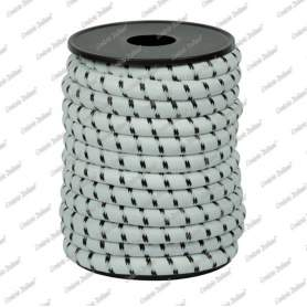 Treccia elastica bianca 10 mm - 5 mt