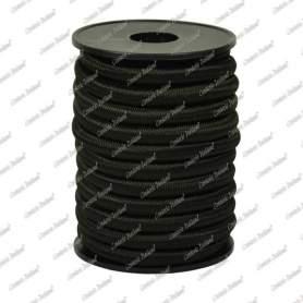 Treccia elastica nera 4 mm - 10 mt