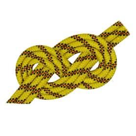 Doppia treccia skipper fantasy h.t., gialla, 4 mm - al metro