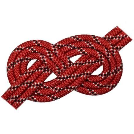 Doppia treccia skipper fantasy h.t., rossa, 8 mm - al metro