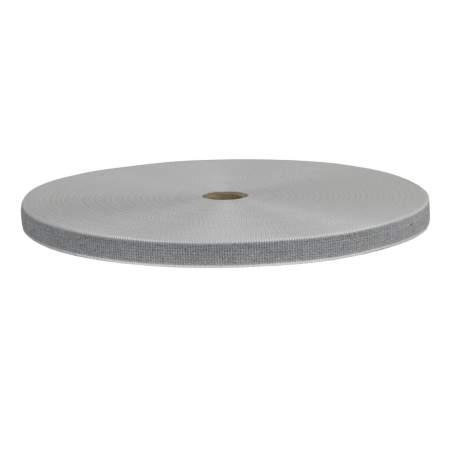 Cintino in cotone 22 mm - 50 mt, grigio perla