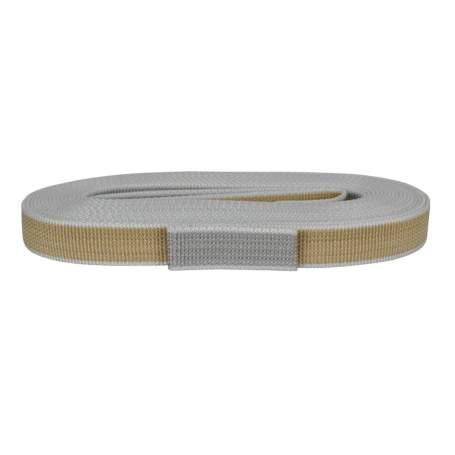 Cintino in polipropilene 22 mm - 7,5 mt, beige-grigio