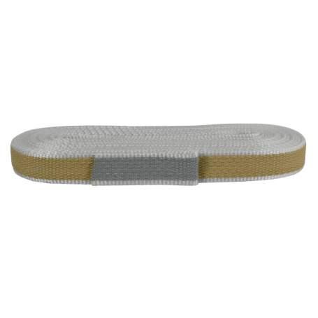 Cintino in rafia 22 mm - 7,5 mt, beige/grigio