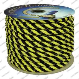 Treccia segnaletica Giallo/Nera 10 mm - 30 m