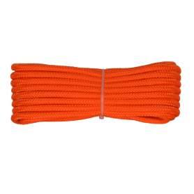 Treccia alta tenacità arancio 4 mm - 10 mt