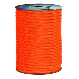 Treccia alta tenacità arancio 4 mm - 100 mt