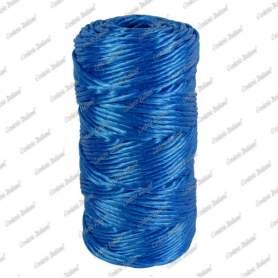 Spago rafia azzurro, Titolo 500, 100 gr - 50 mt