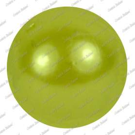Perle 10 mm, colore verde mela, foro 2 mm - 115 pz