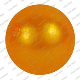 Perle 10 mm, colore arancio, foro 2 mm - 115 pz