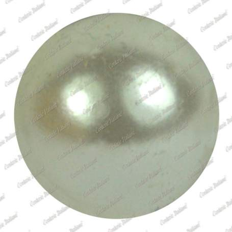 Perle 8 mm, colore bianco, foro 2 mm - 250 pz
