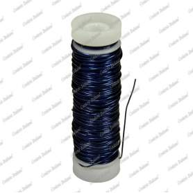 Filo rame smaltato, colore blu, 0,5 mm - 28 mt