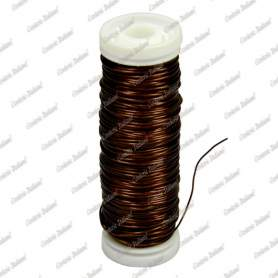 Filo rame smaltato, colore brandy, 0,5 mm - 28 mt