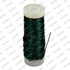 Filo rame smaltato, colore verde, 0,5 mm - 28 mt
