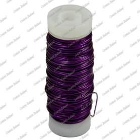 Filo rame smaltato, colore viola, 0,5 mm - 28 mt