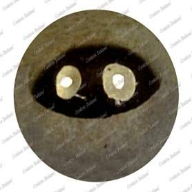 Perle metallizzate 10 mm, colore ematite, foro 2 mm - 115 pz
