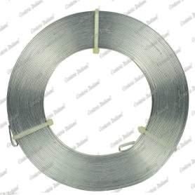 Filo alluminio piatto argento, 5 x 1 mm, 10 mt