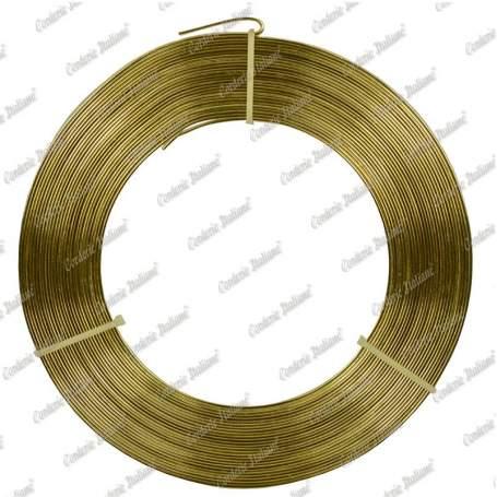 Filo alluminio piatto oro, 5 x 1 mm, 10 mt