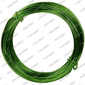 Filo alluminio tondo verde mela, 2 mm - 12 mt