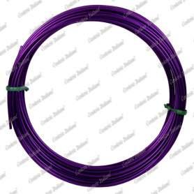 Filo alluminio tondo viola, 2 mm - 12 mt