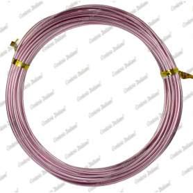 Filo alluminio tondo rosa, 2 mm - 12 mt