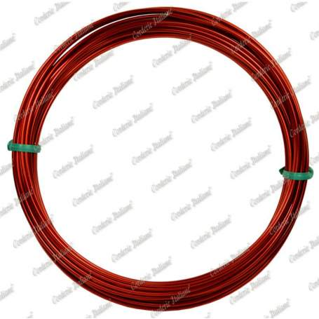 Filo alluminio tondo rosso, 2 mm - 12 mt