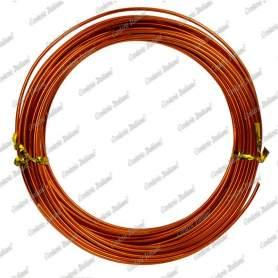 Filo alluminio tondo arancio, 2 mm - 12 mt