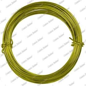 Filo alluminio tondo giallo, 2 mm - 12 mt