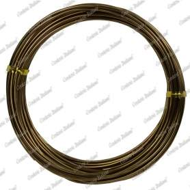 Filo alluminio tondo marrone, 2 mm - 12 mt