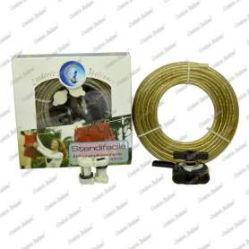 Kit Stendibiancheria acciaio ottonato 4 mm - 10 mt