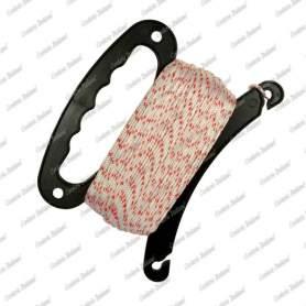 Cordino nylon bianco/rosso 1,8 mm - 100 mt con avvolgitore
