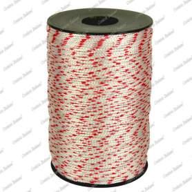 Cordino nylon bianco/rosso 1,8 mm - 500 mt su rocchetto