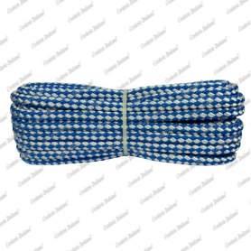 Treccia sport bianco - azzurra, 6 mm - 10 mt