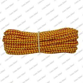 Treccia sport giallo - rossa, 8 mm - 10 mt