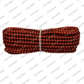 Treccia sport rosso - nera, 4 mm - 10 mt