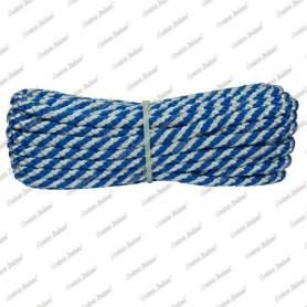 Treccia luxury bianco - azzurra, 8 mm - 10 mt