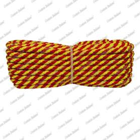 Treccia luxury giallo - rossa, 6 mm - 10 mt