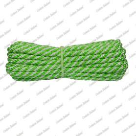 Treccia luxury verde flu - bianca, 6 mm - 10 mt
