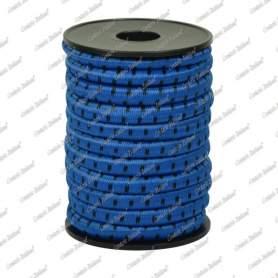 Treccia elastica azzurra 8 mm - 5 mt
