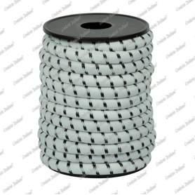 Treccia elastica bianca 8 mm - 5 mt