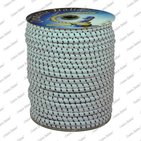 Treccia elastica bianca 10 mm - 100 mt