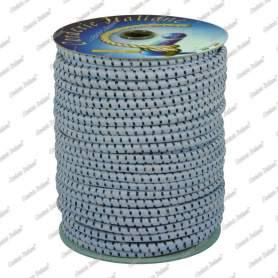 Treccia elastica grigio perla 6 mm - 50 mt