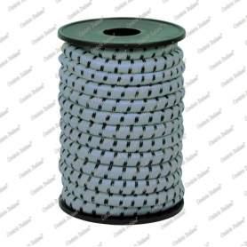 Treccia elastica grigio perla 8 mm - 5 mt