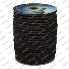 Treccia elastica nera 4 mm - 50 mt