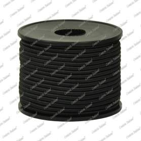 Cordoncino elastico nero 2 mm - 25 mt