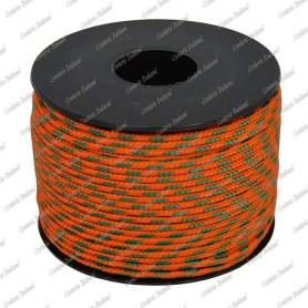 Treccia sky arancio/verde 2 mm - 50 mt