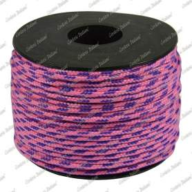 Treccia sky rosa flu/viola 2 mm - 50 mt