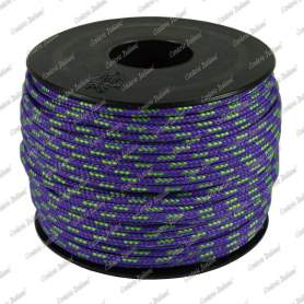 Treccia sky viola/verde flu 2 mm - 100 mt