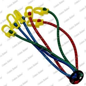 Ragno elastico 8 mm - 40 cm con 4 attacchi, 25 pezzi