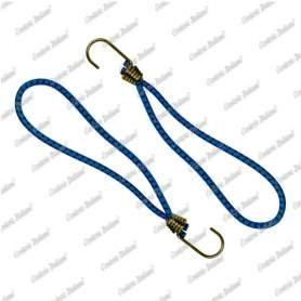 Tenditore elastico ad anello 6 mm - 20 cm, azzurro, 2 pezzi